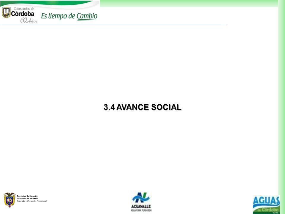 3.4 AVANCE SOCIAL