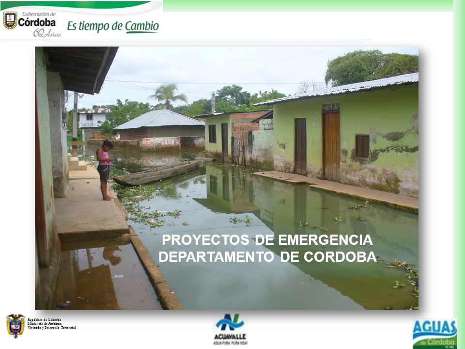 PROYECTOS DE EMERGENCIA DEPARTAMENTO DE CORDOBA