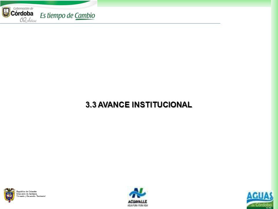 3.3 AVANCE INSTITUCIONAL