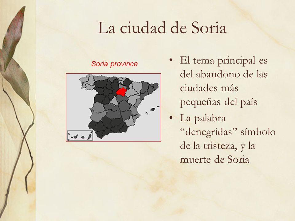 La ciudad de Soria El tema principal es del abandono de las ciudades más pequeñas del país.