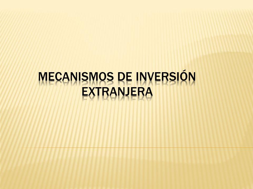 Mecanismos de Inversión Extranjera
