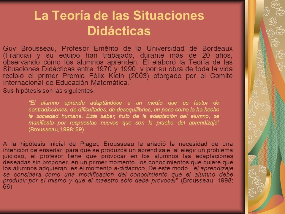 La Teoría de las Situaciones Didácticas