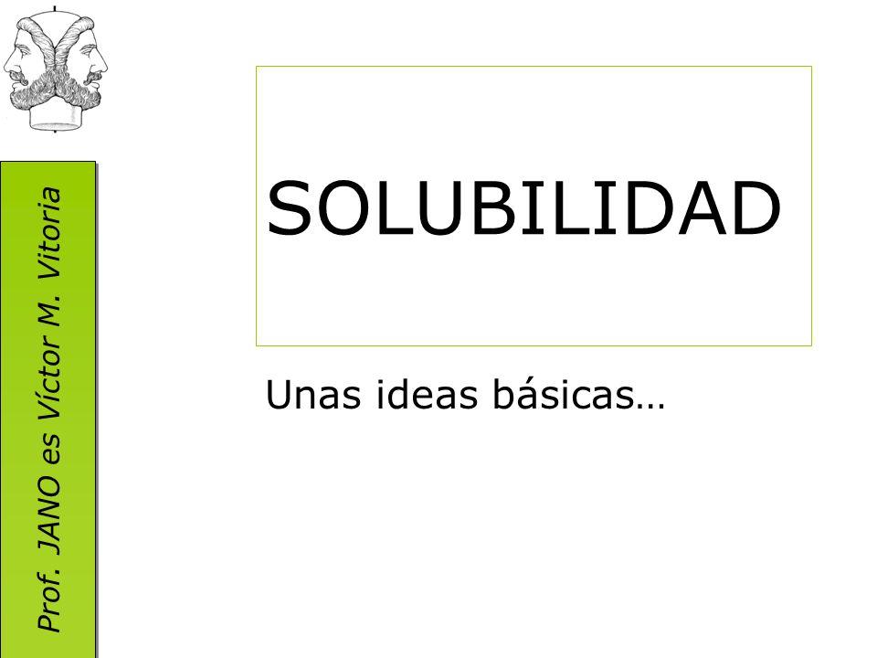 SOLUBILIDAD Unas ideas básicas…