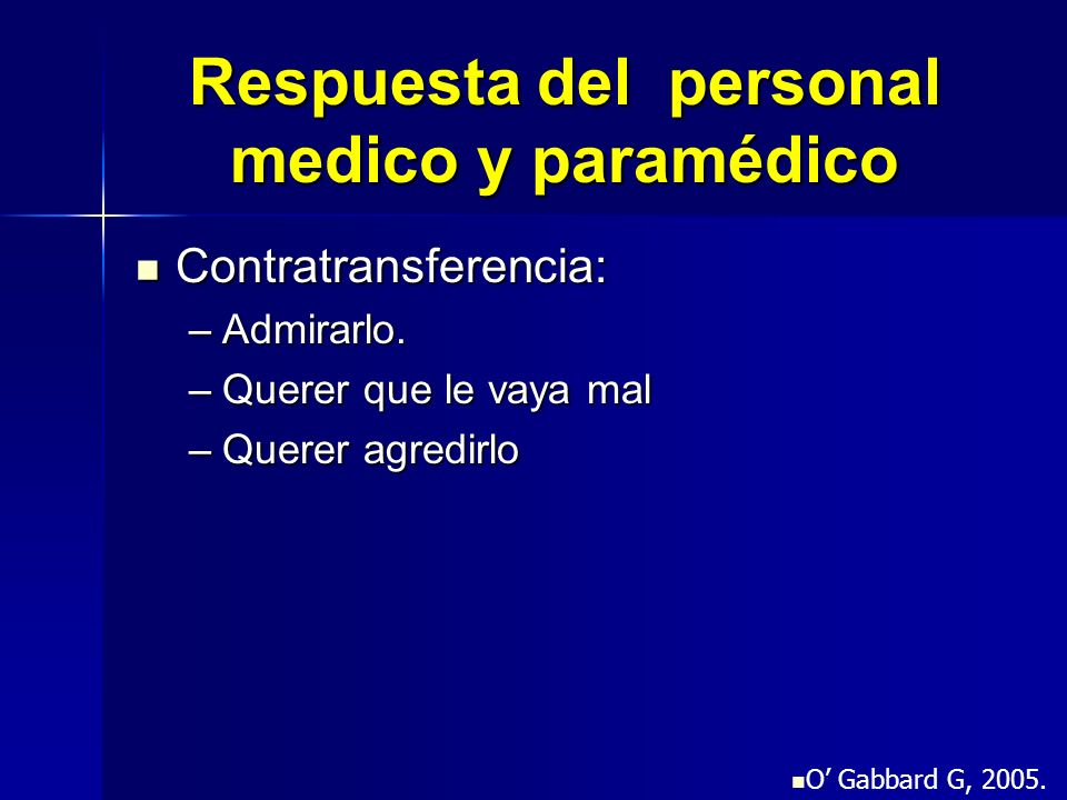 Respuesta del personal medico y paramédico