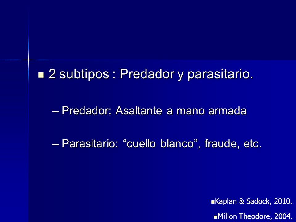 2 subtipos : Predador y parasitario.