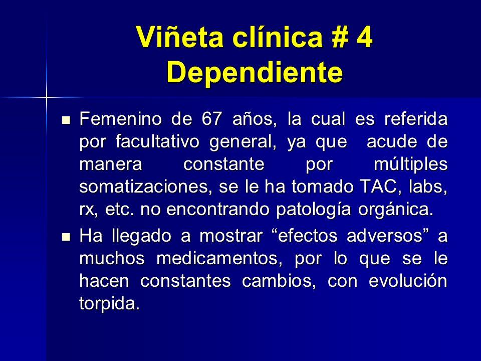Viñeta clínica # 4 Dependiente