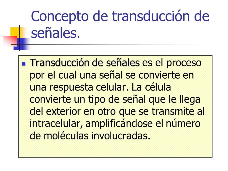 Concepto de transducción de señales.