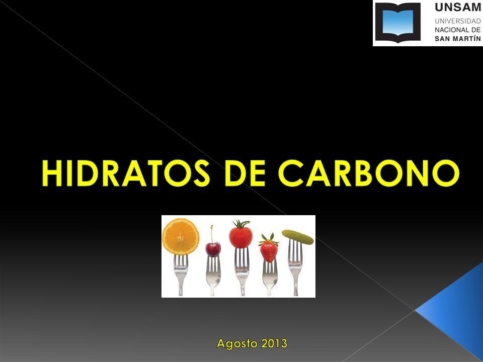 HIDRATOS DE CARBONO Agosto 2013