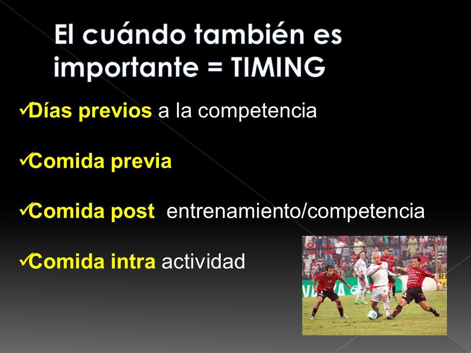 El cuándo también es importante = TIMING