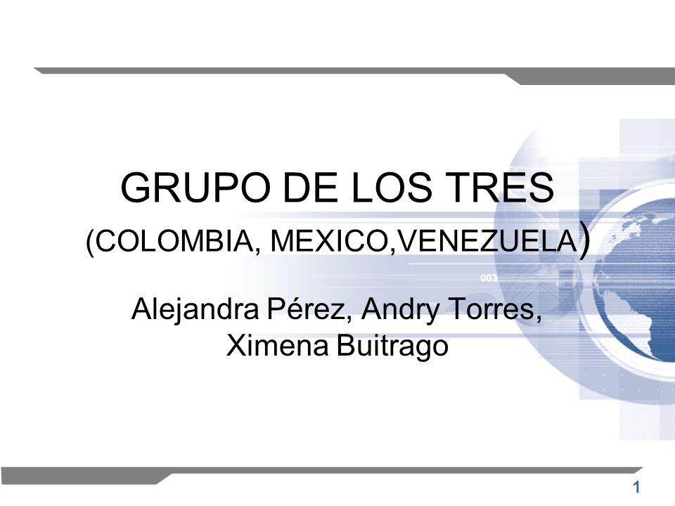 GRUPO DE LOS TRES (COLOMBIA, MEXICO,VENEZUELA)