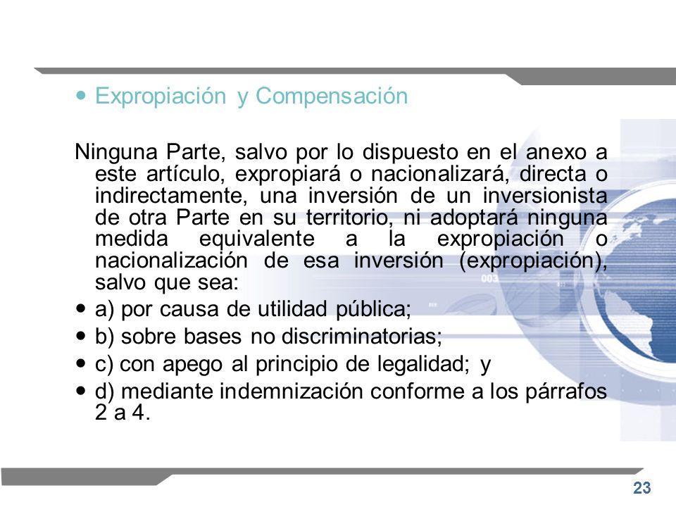 Expropiación y Compensación