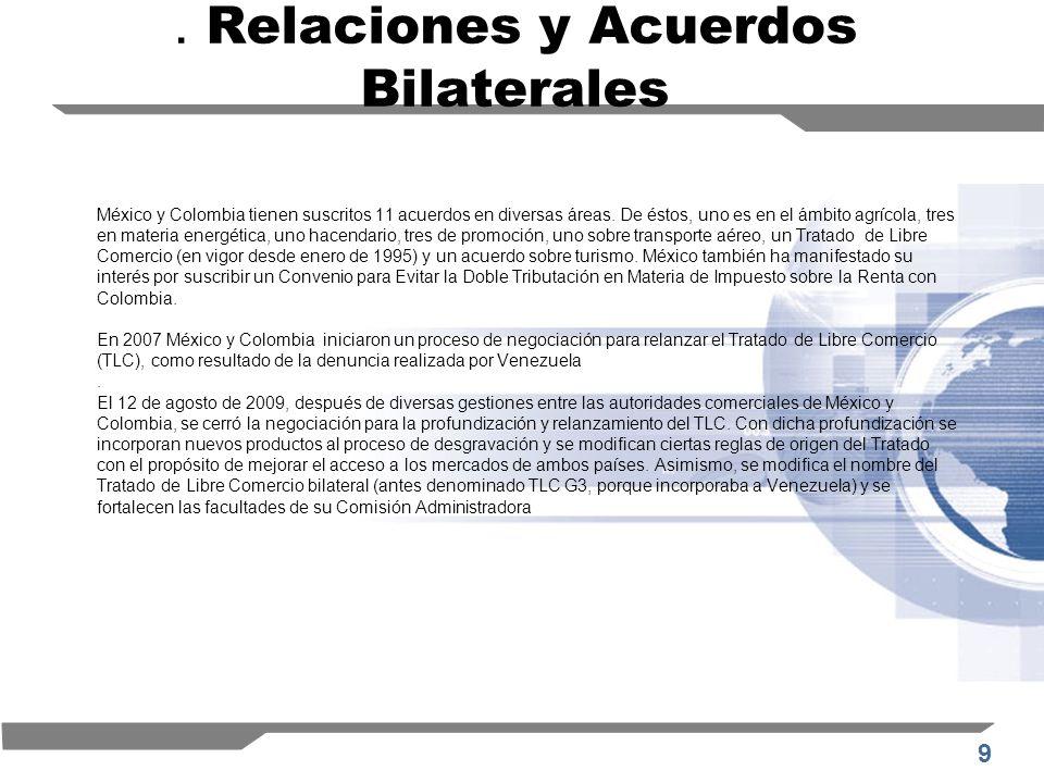 . Relaciones y Acuerdos Bilaterales