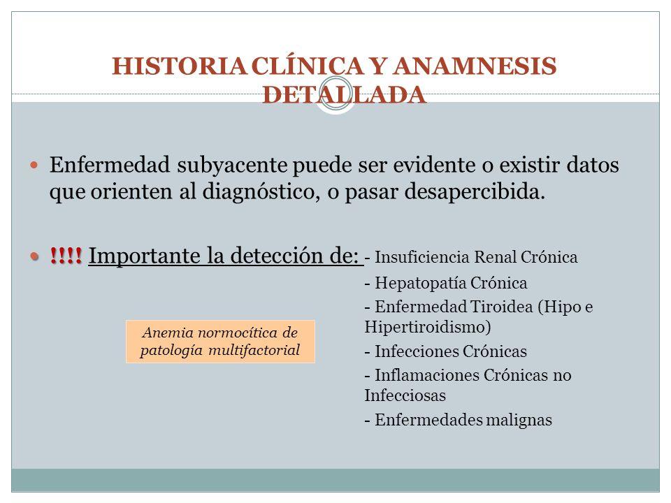 HISTORIA CLÍNICA Y ANAMNESIS DETALLADA