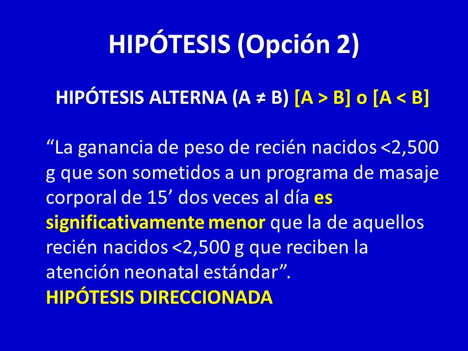 HIPÓTESIS (Opción 2)