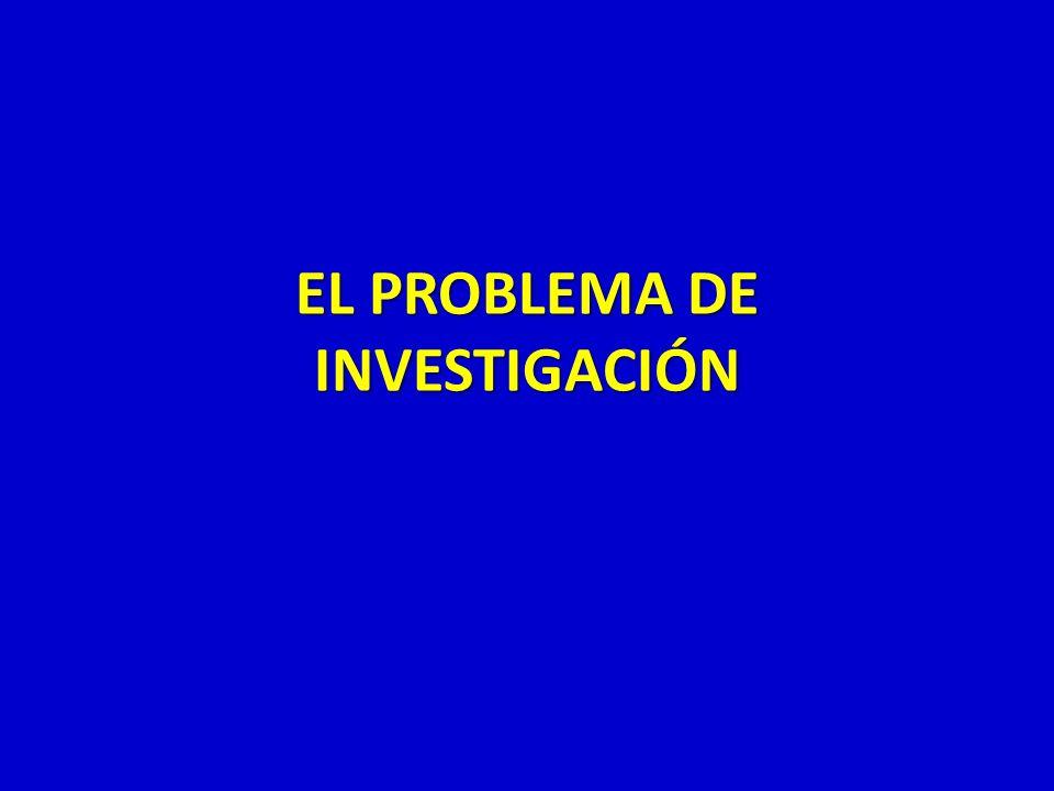 EL PROBLEMA DE INVESTIGACIÓN