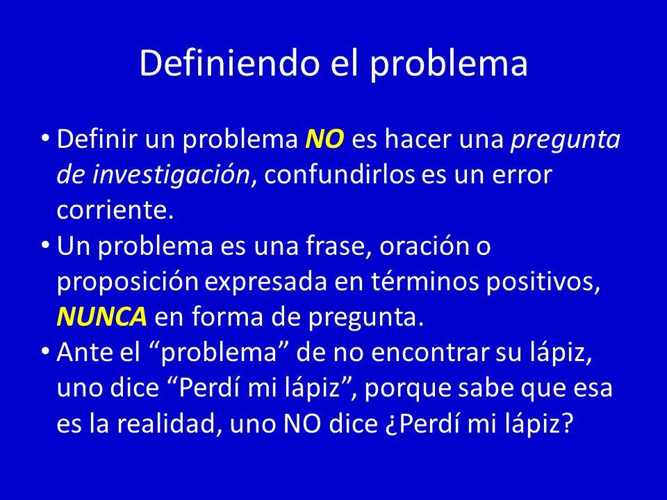 Definiendo el problema
