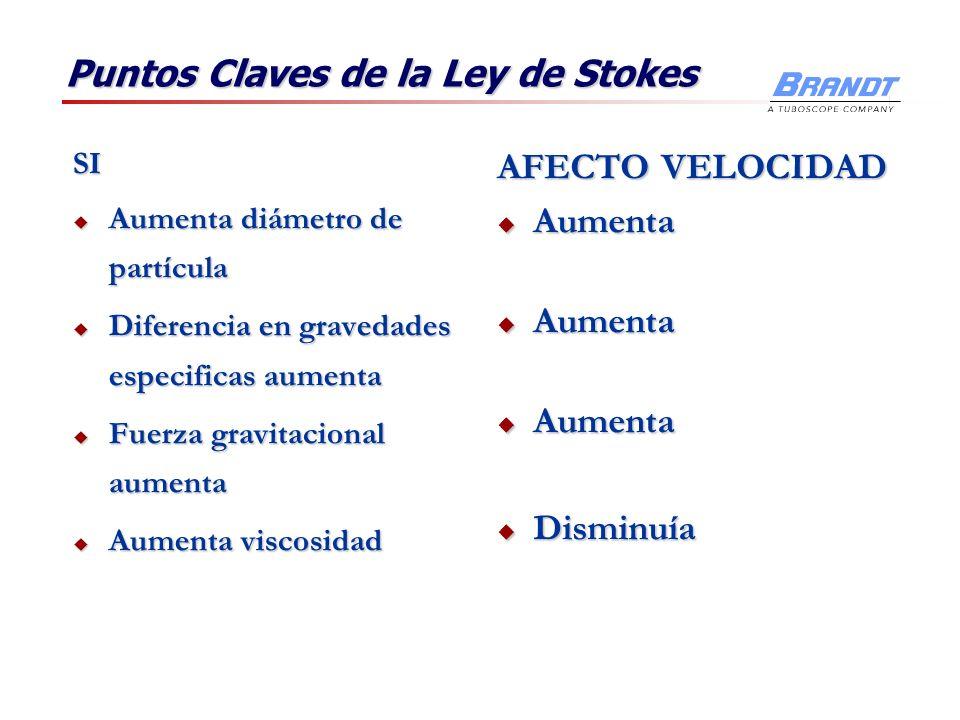 Puntos Claves de la Ley de Stokes