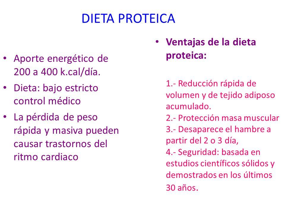 DIETA PROTEICA Ventajas de la dieta proteica: