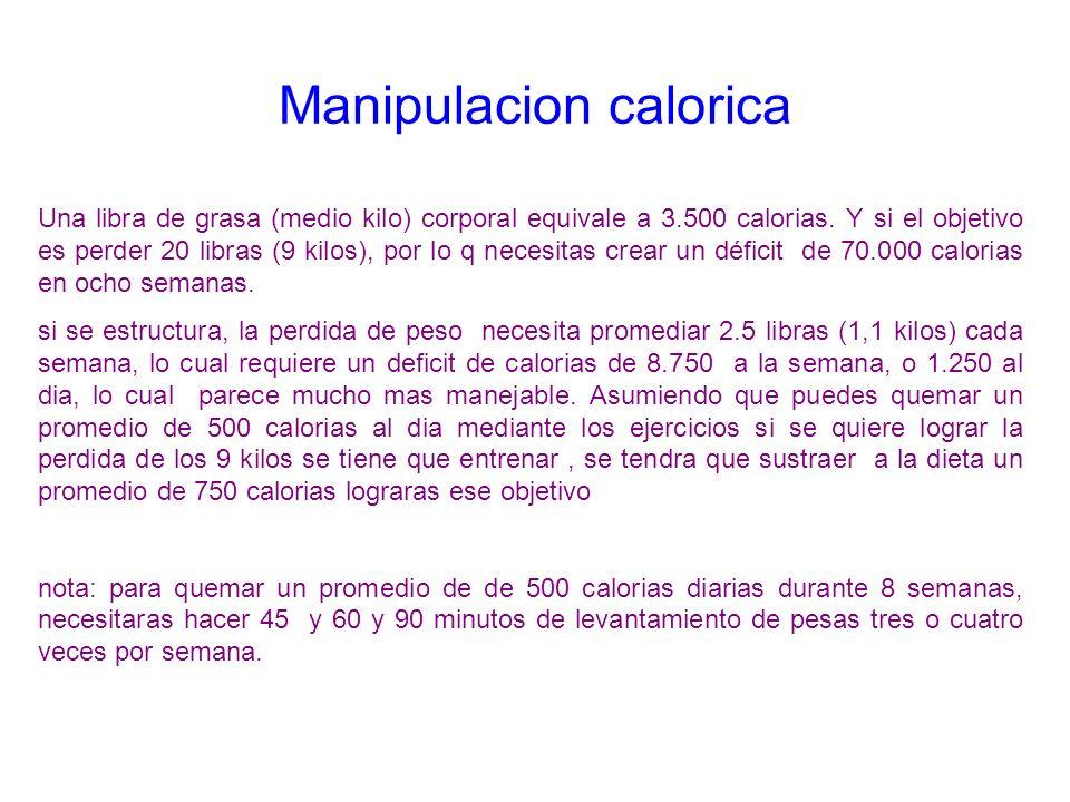 Manipulacion calorica