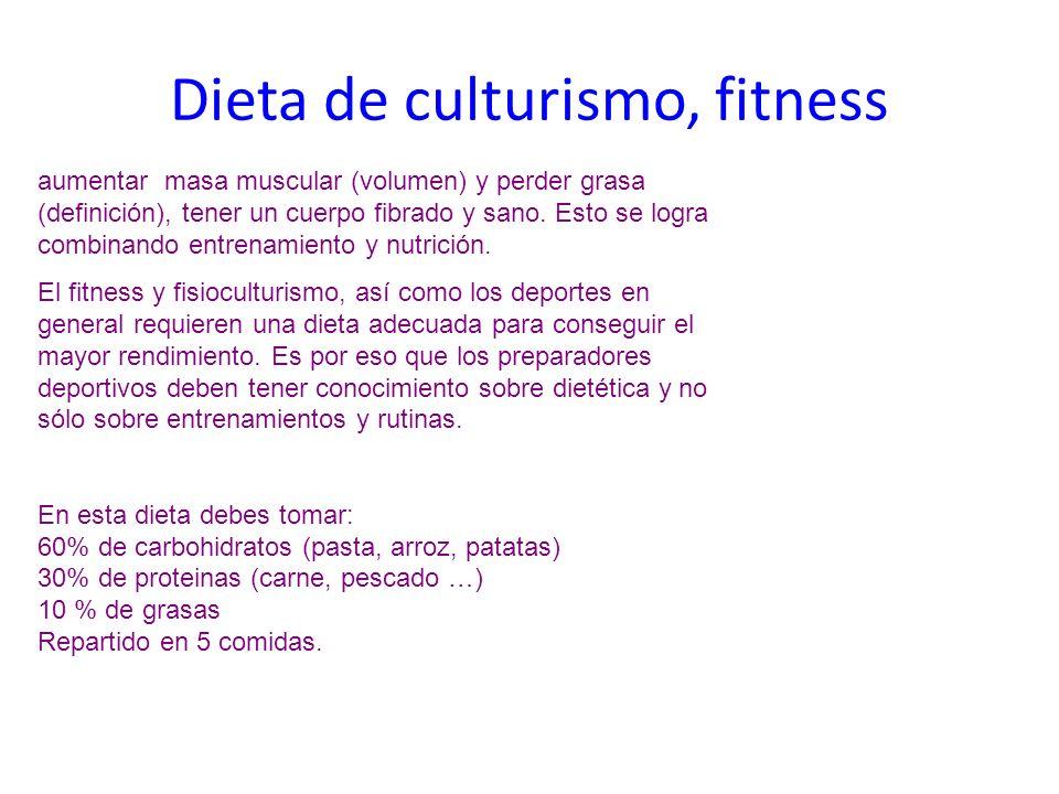 Dieta de culturismo, fitness