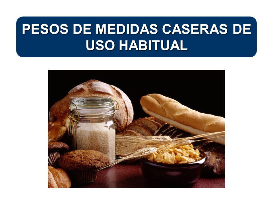 PESOS DE MEDIDAS CASERAS DE USO HABITUAL