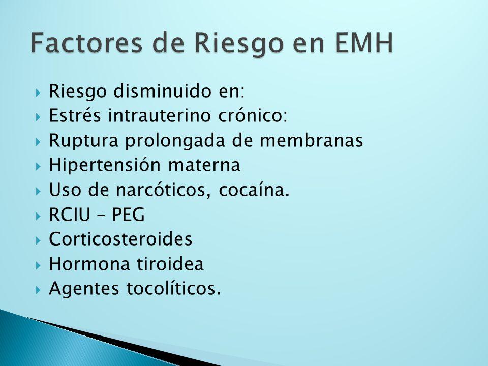 Factores de Riesgo en EMH