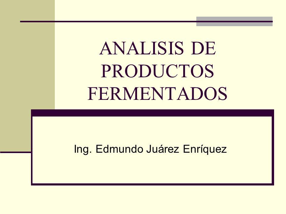 ANALISIS DE PRODUCTOS FERMENTADOS