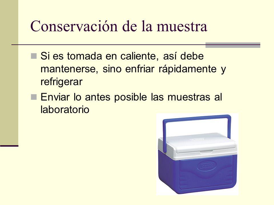 Conservación de la muestra
