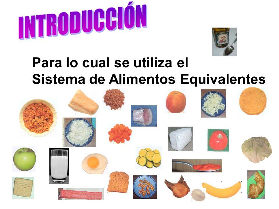INTRODUCCIÓN Para lo cual se utiliza el Sistema de Alimentos Equivalentes