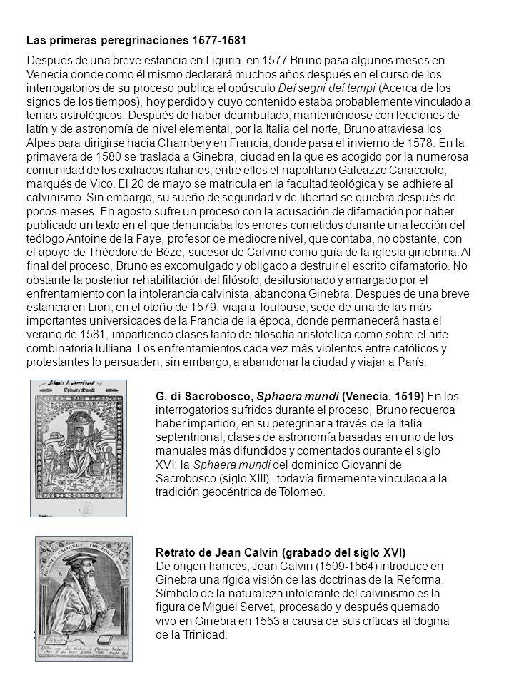 Las primeras peregrinaciones 1577-1581