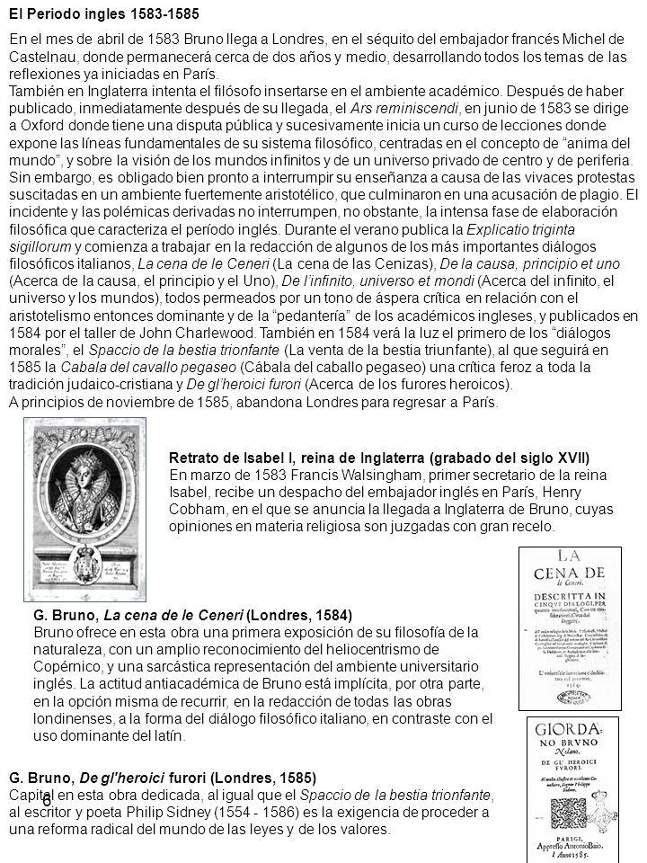 El Periodo ingles 1583-1585