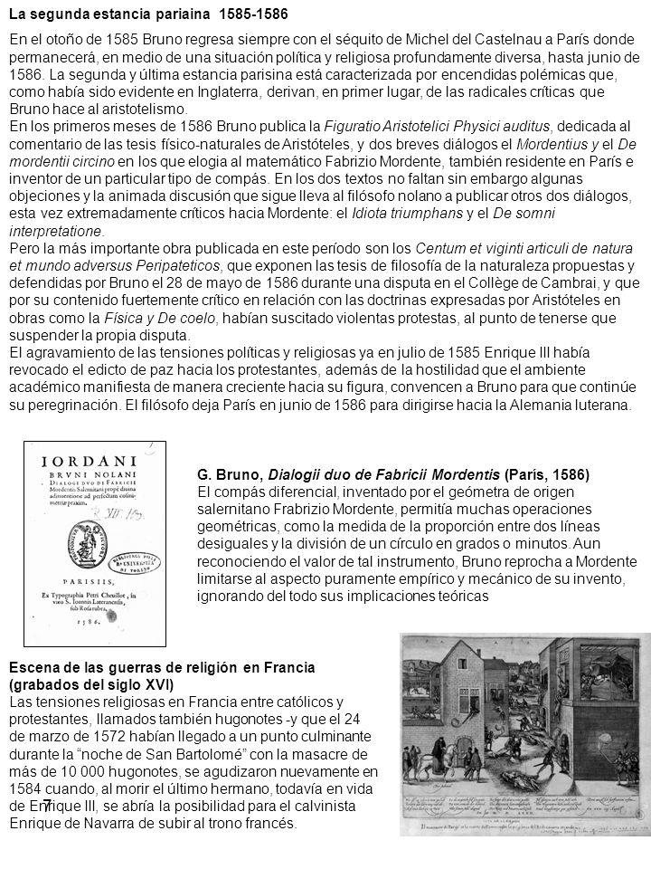 La segunda estancia pariaina 1585-1586
