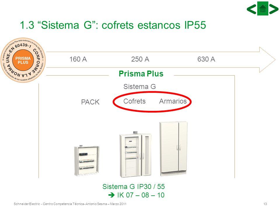 1.3 Sistema G : cofrets estancos IP55