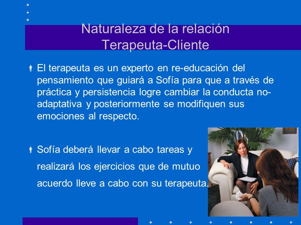 Naturaleza de la relación Terapeuta-Cliente