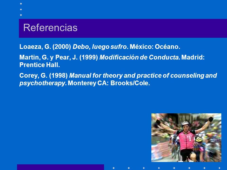 Referencias Loaeza, G. (2000) Debo, luego sufro. México: Océano.