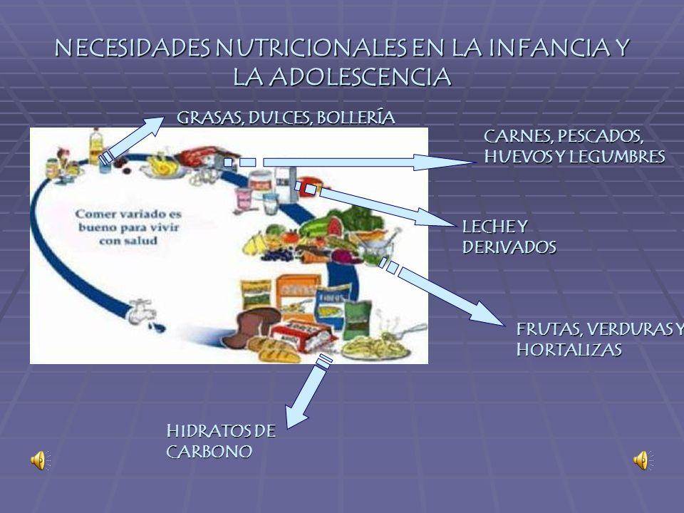 NECESIDADES NUTRICIONALES EN LA INFANCIA Y LA ADOLESCENCIA