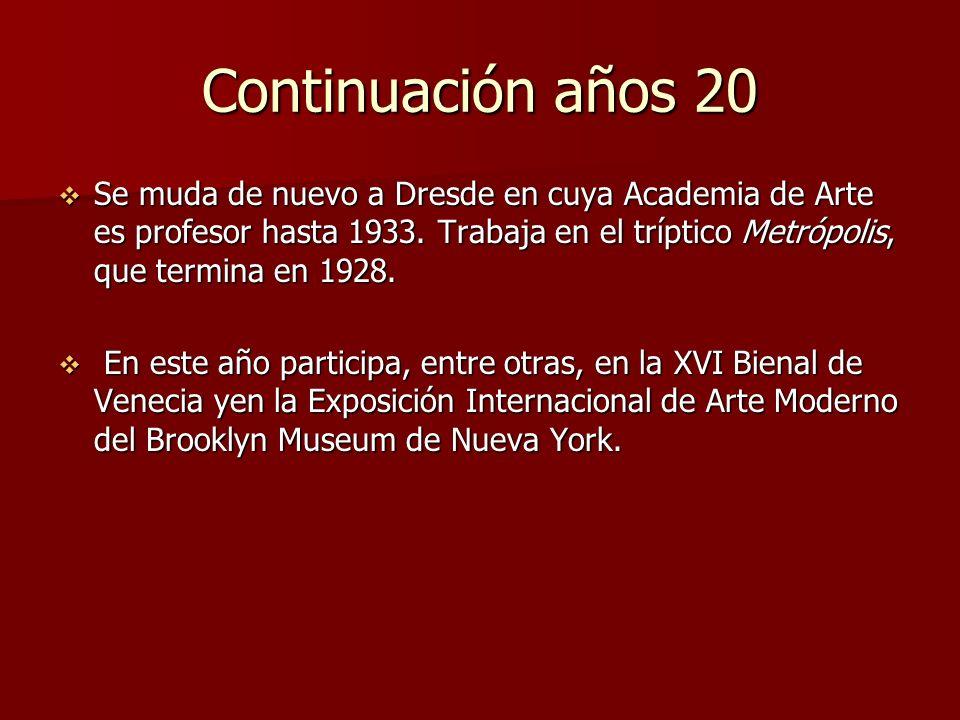 Continuación años 20