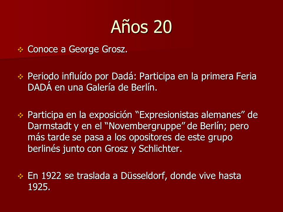 Años 20 Conoce a George Grosz.