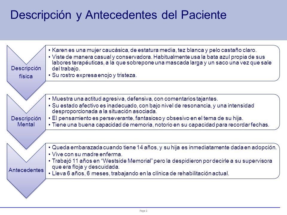 Descripción y Antecedentes del Paciente
