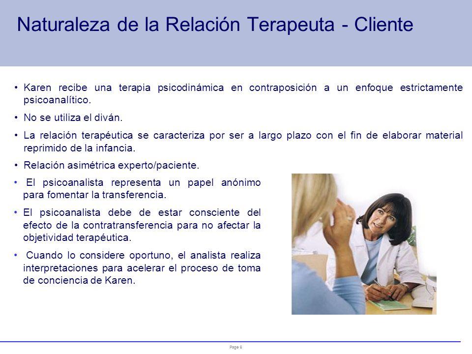 Naturaleza de la Relación Terapeuta - Cliente