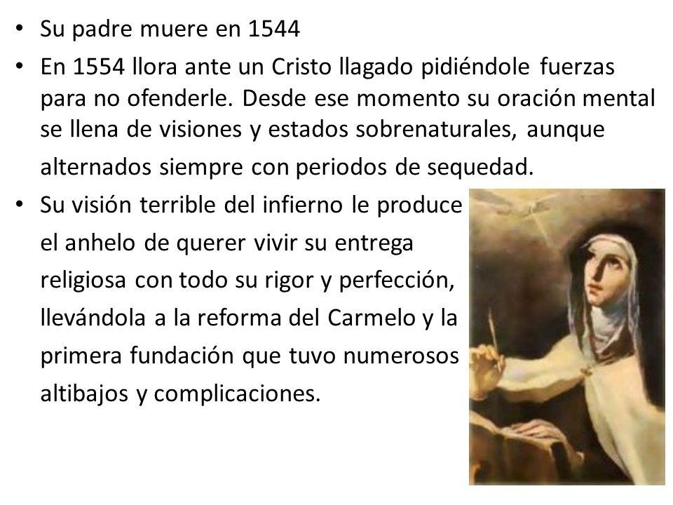 Su padre muere en 1544