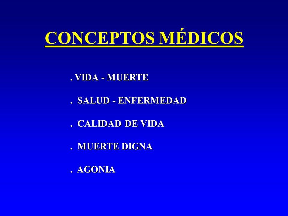CONCEPTOS MÉDICOS . VIDA - MUERTE . SALUD - ENFERMEDAD