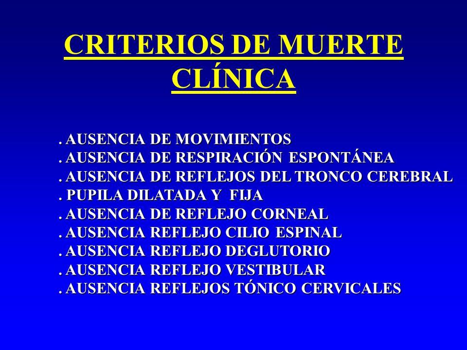 CRITERIOS DE MUERTE CLÍNICA