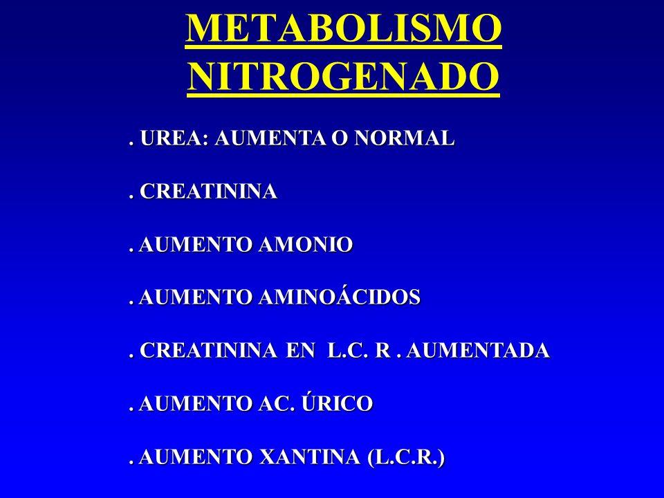 METABOLISMO NITROGENADO