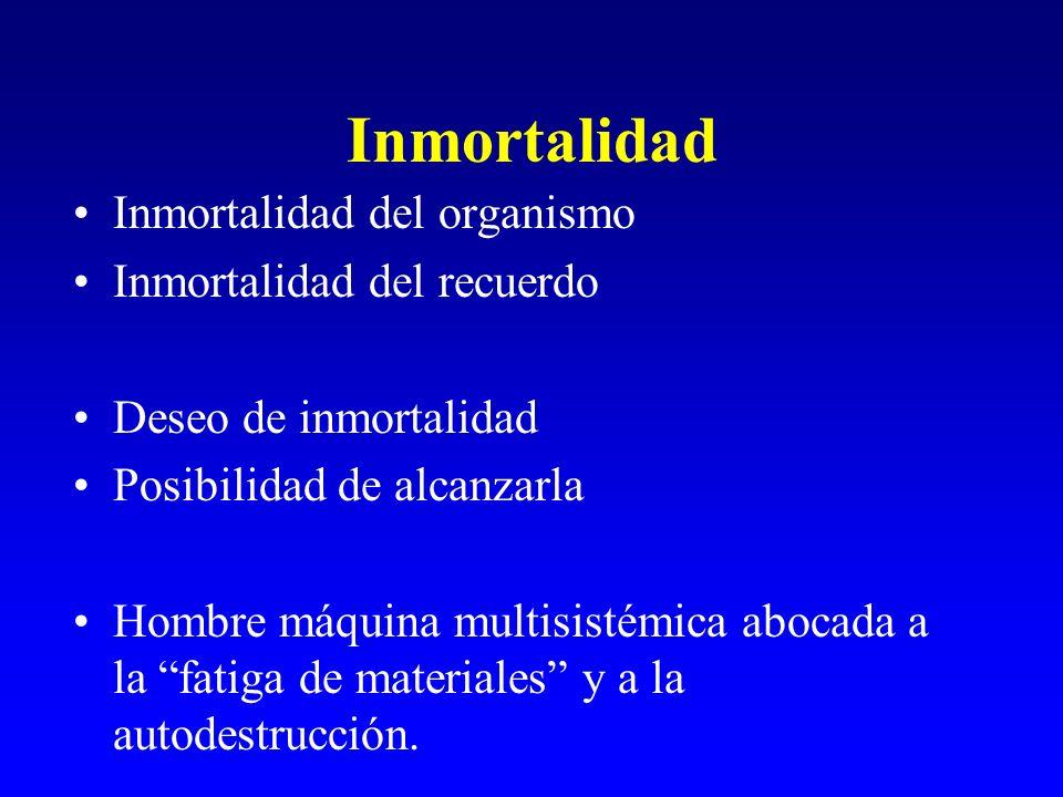Inmortalidad Inmortalidad del organismo Inmortalidad del recuerdo