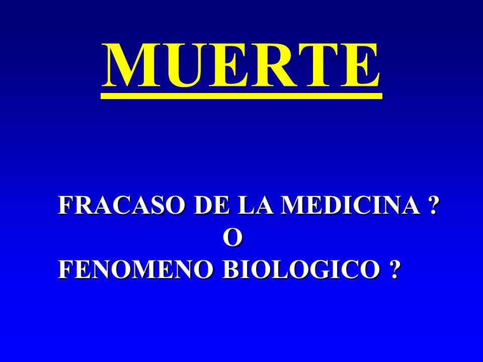 MUERTE FRACASO DE LA MEDICINA O FENOMENO BIOLOGICO