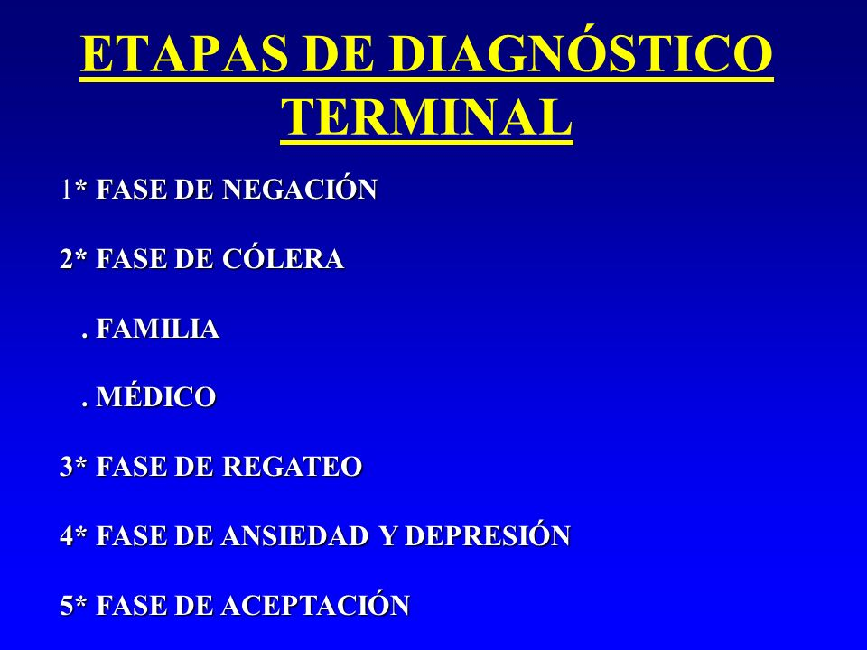 ETAPAS DE DIAGNÓSTICO TERMINAL