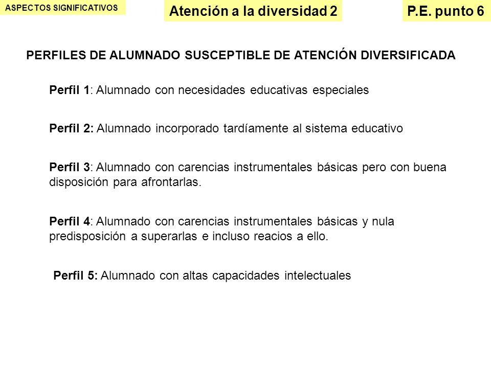 Atención a la diversidad 2 P.E. punto 6