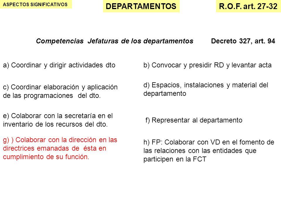 DEPARTAMENTOS R.O.F. art. 27-32
