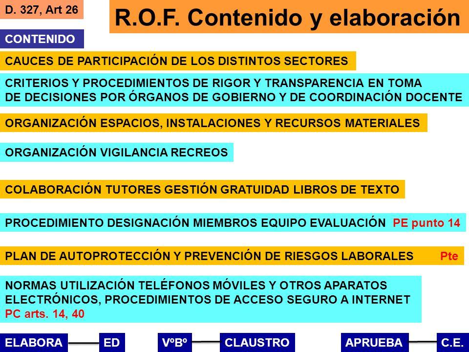 R.O.F. Contenido y elaboración